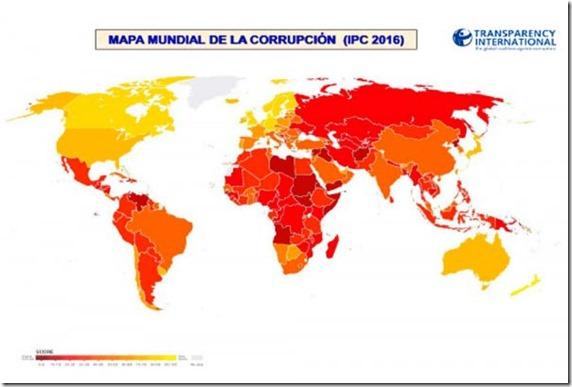 Percepción de Corrupción: Bolivia ocupa puesto 113 de 176 países
