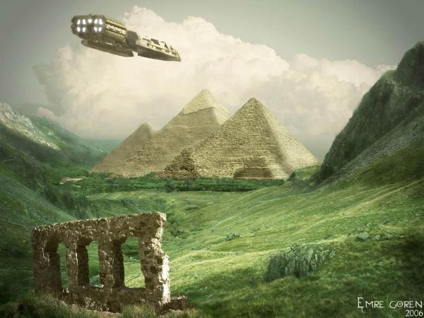 Aliens Near The Pyramids, Magical Landscapes 1