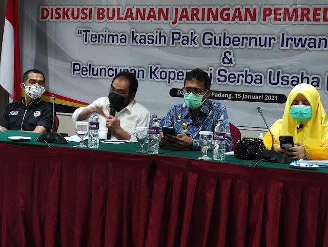 JPS Ucapkan Terimakasih Pak Gubernur Irwan Prayitno
