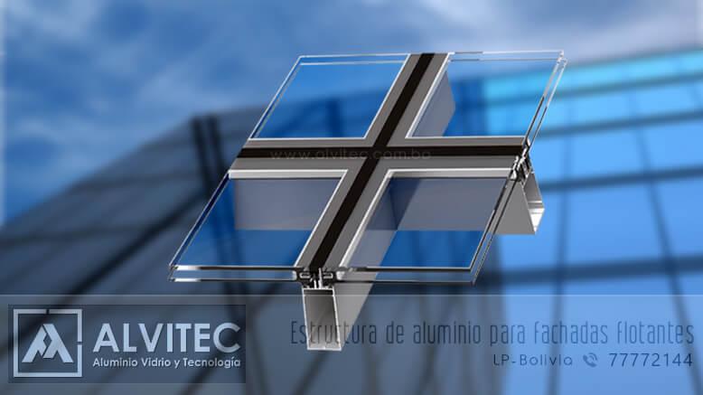 Estructura de aluminio para fachadas flotantes