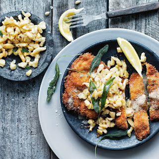 Chicken and Caraway Schnitzel With Buttermilk Spaetzle recipe | Epicurious.com.