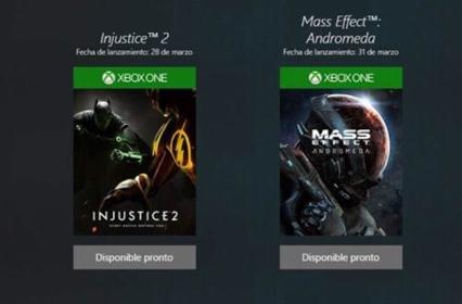 Se filtran las fechas de lanzamiento de Mass Effect Andromeda e Injustice 2