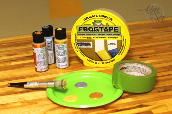 Stenciling Supplies with Frog Tape