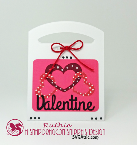 Valentine Tote Candy Box,  Valentine Tote Candy Be Mine Box, Ruthie Lopez, SnapDragon Snippets. 2