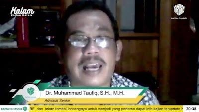 Foto Dr Muhammad Taufiq. Pakar Hukum Sebut Pembubaran FPI Berkaitan dengan Kekalahan Ahok di Pilkada DKI.