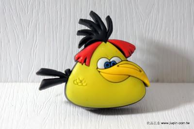 裝潢五金品名:KT008-憤怒鳥材質:塑膠顏色:黃+紅色玖品五金