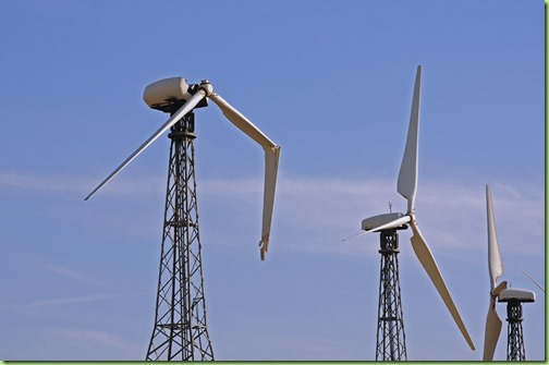 Broken-wind-turbine