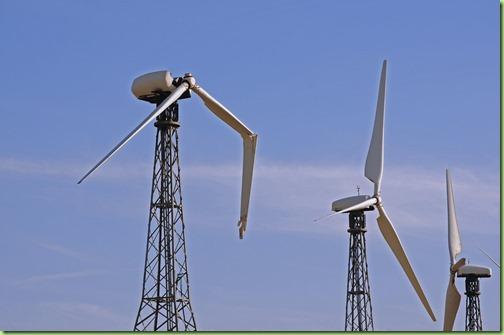Broken-wind-turbine