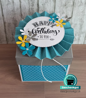 Geschenkbox Überraschungsbox Explosionsbox Geburtstag Torte Geldgeschenk Gutschein