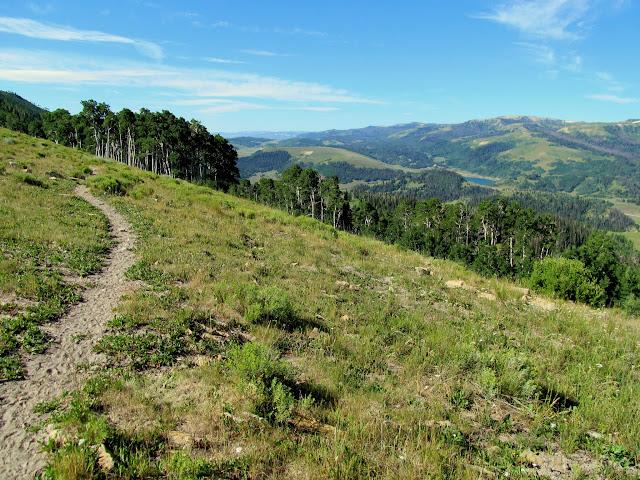 Trail with Miller Flat Reservoir below