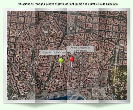Situacons esglésies de Sant Jaume