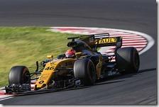Robert Kubica con la Renault nei test di Budapest 2017