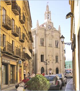 Sizilien - Agrigento - Blick auf den Palazzo dell'Orologio, heute Sitz der Handelskammer.