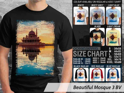 Kaos Muslim Islam Beautiful Mosque 3 distro ocean seven