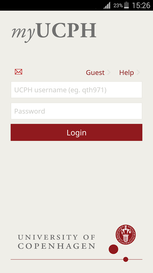 myUCPH- screenshot