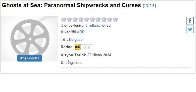 Ghosts At Sea Paranormal Shipwrecks And Curses - 2014 DVDRip x264 - Türkçe Altyazılı Tek Link indir