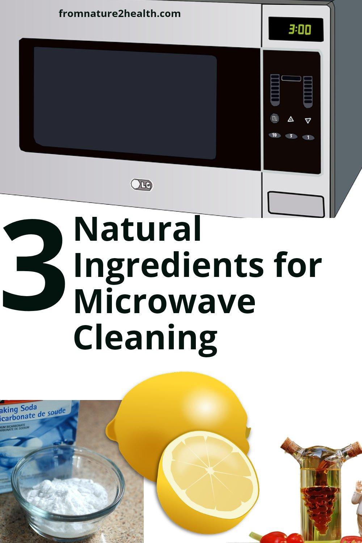 Lemon, Vinegar, Baking Soda is 3 Natural Ingredients for Microwave Cleaning