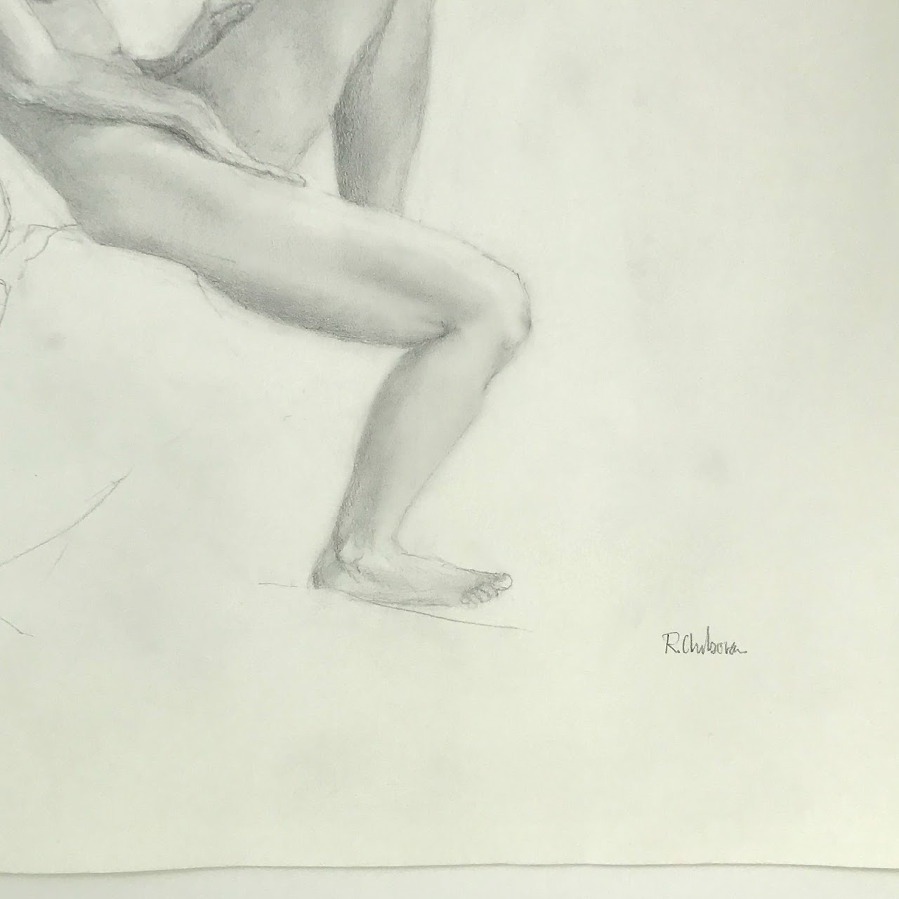 Robert Chabora Signed Nude Drawing