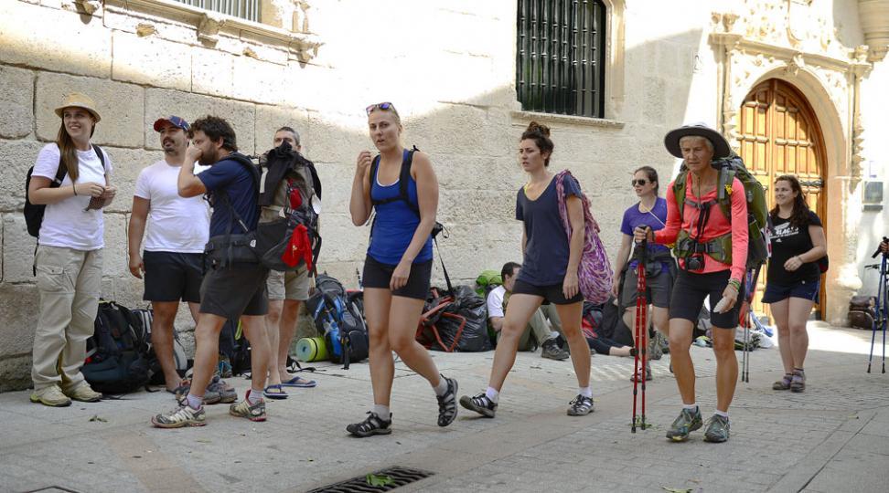 Mayoría de peregrinos extranjeros en Burgos