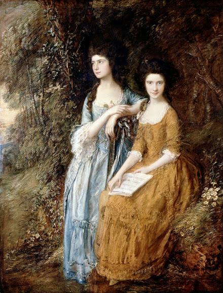 Thomas Gainsborough - Elizabeth and Mary Linley
