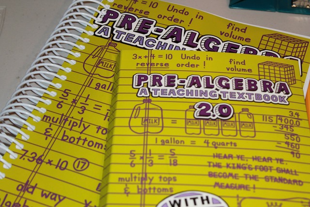 Teaching Textbook Pre Algebra