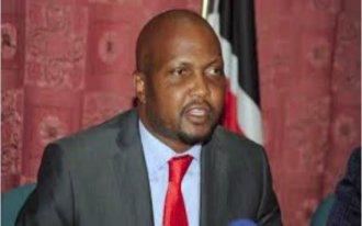 Moses Kuria on press conference. PHOTO | BMS