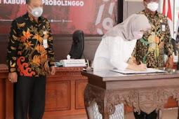 Bupati Probolinggo Tantriana Teken Perjanjian Kontrak, Untuk Mendukung Program Pemulihan Ekonomi Nasional