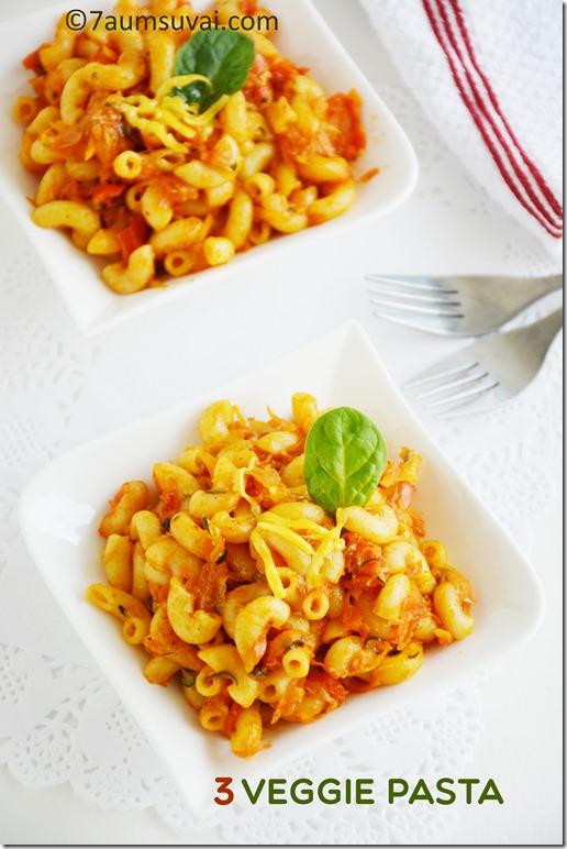 3 veggie pasta