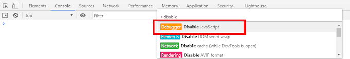 How to disable Javascript from a website using Chrome
