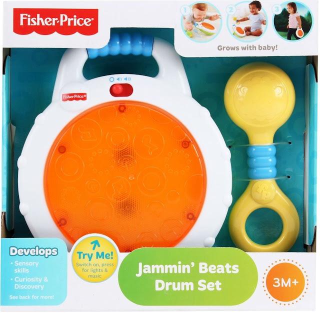 Sản phẩm Bộ Trống vui nhộn Fisher-Price Jammin' Beats Drum Set