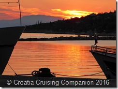 Croatia Cruising Companion - Novi Vinodolski Sunset