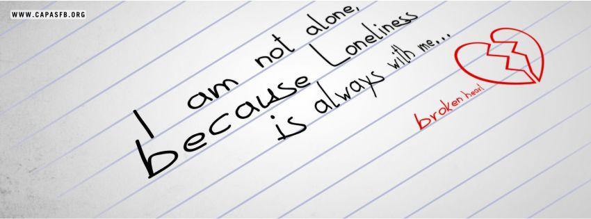 02894 I Am Not Alone Capa Para Facebook Capas Para Facebook