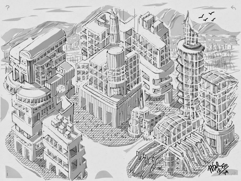 the city made with Sketches