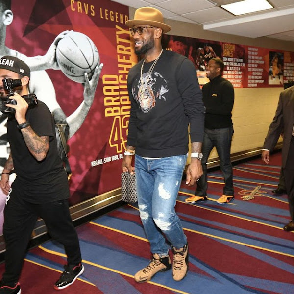 King James Arrives to Game 3 Wearing Cork LeBron XII EXT