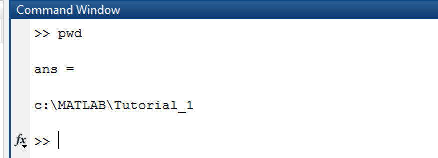PWD (present working directory) MATLAB