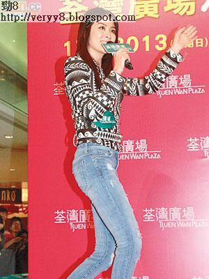 陳慧琳昨日在台上獻唱歌迷期待已久的新歌。