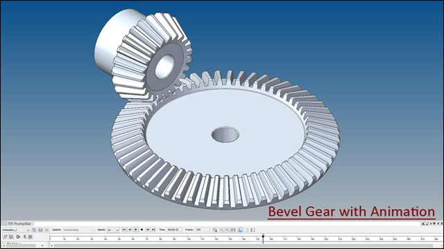Bevel Gear with Animation