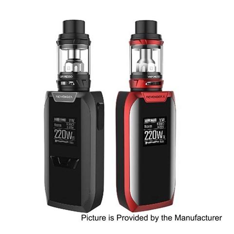 authentic-vaporesso-revenger-x-220w-tc-vw-variable-wattage-mod-nrg-tank-kit-black-5220w-2-x-18650-5ml-265mm-diameter