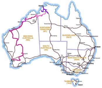 Route to Darwin