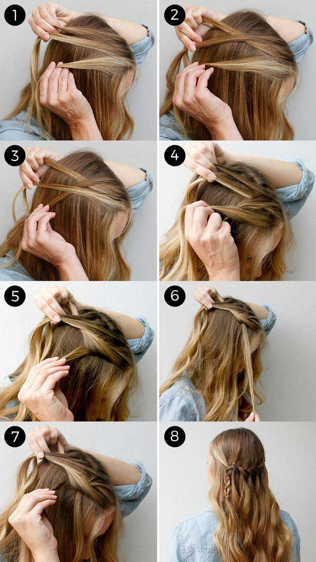 ِAwosome Half up-Half down Hairstyles And TUTORIAL for long hair 1