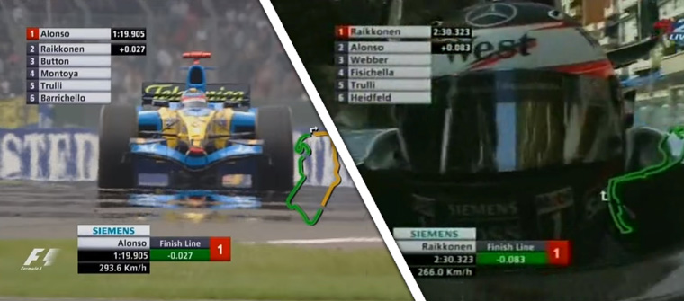 En los 6 primeros GP de 2005 se sumaban dos vueltas lanzadas