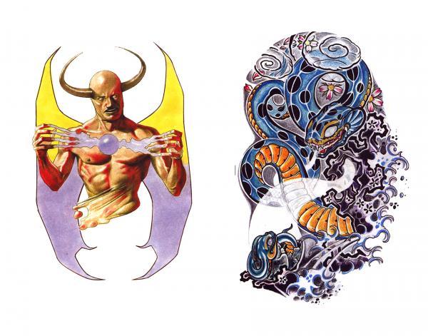 Silent Tattoo Design 2, Fantasy Tattoo Designs