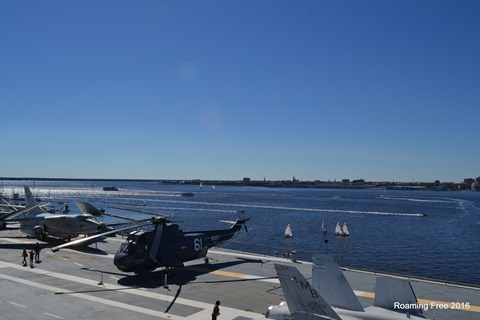 Overlooking the Flight Deck and Charleston Harbor