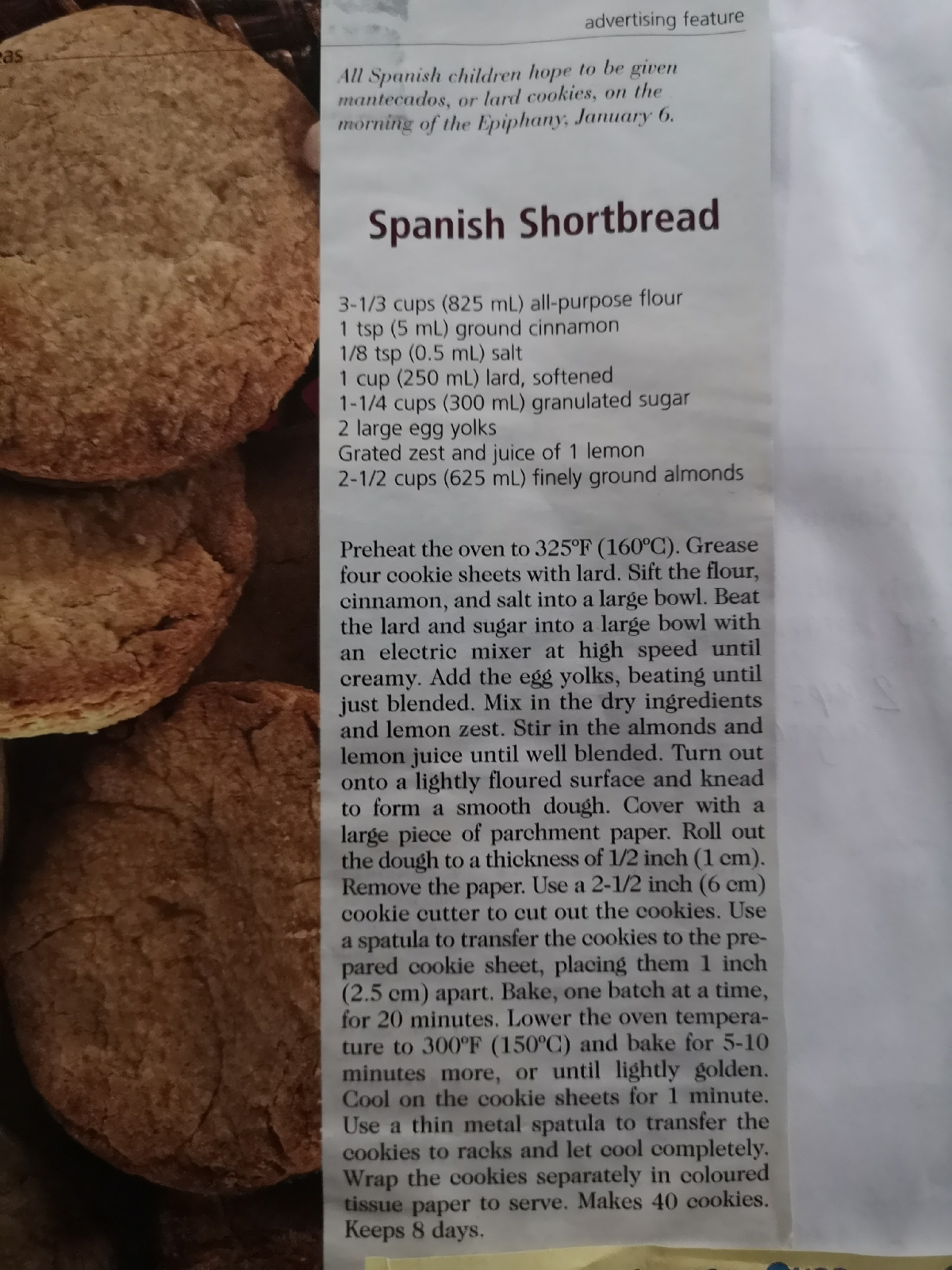 Spanish Shortbread   The inspiration behind the recipe