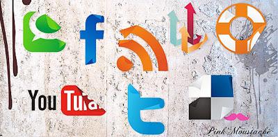 Иконки социальных сетей для блога