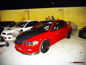 Red Mitsubishi Evo