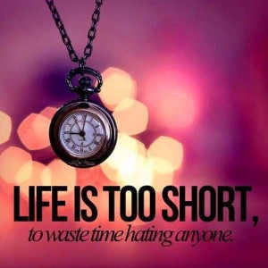 Life is too Short to waste time hating anyone - imageforwhatsapp