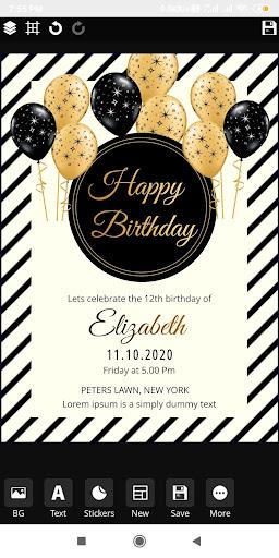 Invitation maker 2020 Birthday & Wedding card Free screenshot 4