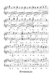 """Вальс """"Танец снежинок"""" А. Глазунова: ноты"""
