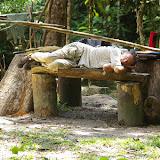 Repos à Point chaud sur la Crique Nouvelle France. Saül (Guyane), 1er décembre 2011. Photo : J.-M. Gayman
